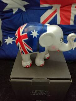 The Elephant Parade Aussie Flag Elephant - second prize