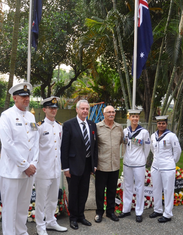 Thanks to HMAS Anzac for joining us