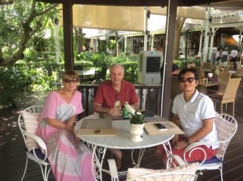 Kirsten and lunch, at Nakara Jardin